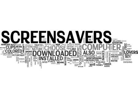 potentially: A GUIDE TO FREE SCREENSAVERS TEXT WORD CLOUD CONCEPT