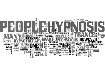 A GUIDE TO HYPNOSIS TEXT WORD CLOUD CONCEPT