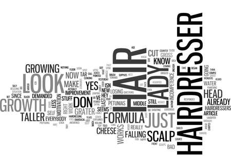 er: A BAD HAIRDRESSER DAY TEXT WORD CLOUD CONCEPT