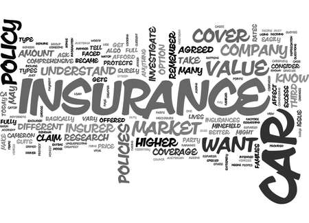 A BETTER VIEW ON CAR INSURANCE TEXT WORD CLOUD CONCEPT
