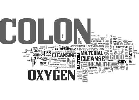impacted: A COLON DETOX CAN IMPROVE YOUR COLON HEALTH TEXT WORD CLOUD CONCEPT
