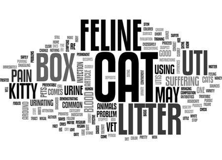 A COMMON CAT LITTER BOX PROBLEM FELINE UTI TEXT WORD CLOUD CONCEPT