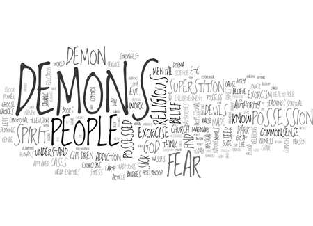 A COMMONSENSE GUIDE TO EXORCISM TEXT WORD CLOUD CONCEPT