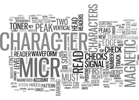 A CONCISE GUIDE TO MICR AND ASSOCIATED TECHNOLOGIES TEXT WORD CLOUD CONCEPT Çizim