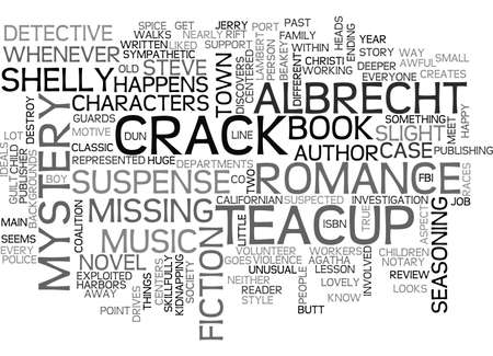 suspected: A CRACK IN THE TEACUP BOOK REVIEW TEXT WORD CLOUD CONCEPT Illustration
