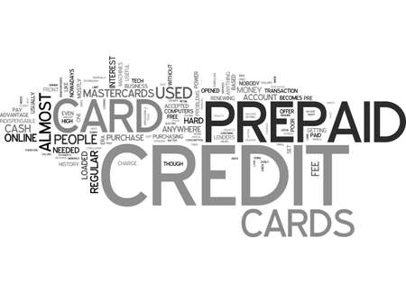 a credit free card what is a prepaid credit card text word cloud concept stock vector - Free Prepaid Credit Card