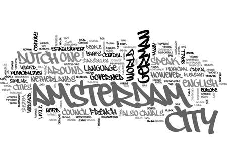 BACKGROUND TO AMSTERDAM TEXT WORD CLOUD CONCEPT Ilustrace
