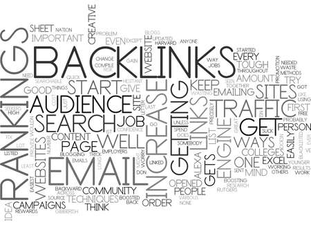 BACKLINKS ANYONE TEXT WORD CLOUD CONCEPT Illustration