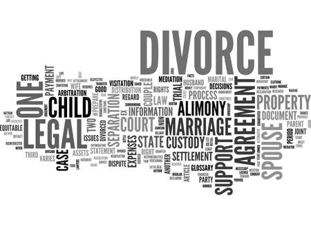 stating: A DIVORCE GLOSSARY TEXT WORD CLOUD CONCEPT Illustration