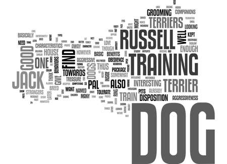 A DOG IN ONE PACK JACK RUSSELL TERRIER TEXT WORD CLOUD CONCEPT