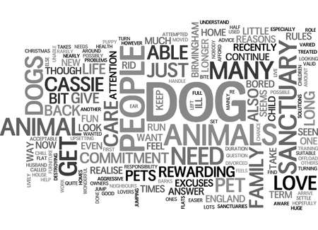 A DOG IS FOR LIFE NOT JUST FOR CHRISTMAS TEXT WORD CLOUD CONCEPT Illustration