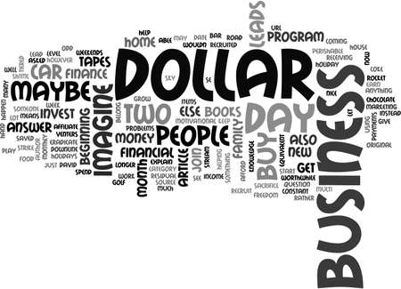 beginnings: A DOLLAR A DAY TEXT WORD CLOUD CONCEPT