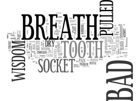BAD BREATH AFTER WISDOM TOOTH PULLED TEXT WORD CLOUD CONCEPT