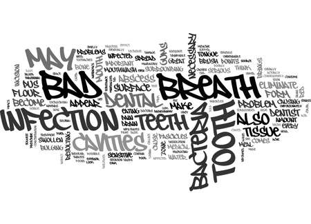 eliminate: BAD BREATH AND CAVITIES TEXT WORD CLOUD CONCEPT
