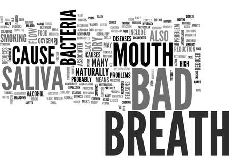 BAD BREATH CAUSE TEXT WORD CLOUD CONCEPT