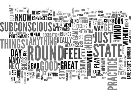 A FEEL FOR YOUR GOLF GAME TEXT WORD CLOUD CONCEPT Stock Vector - 79494257