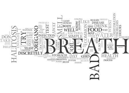 BAD BREATH HALITOSIS TEXT WORD CLOUD CONCEPT