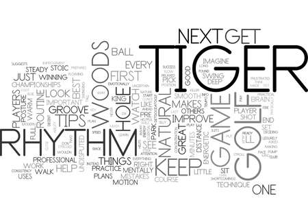 A FEW GOLF TIPS FROM TIGER WOODS TEXT WORD CLOUD CONCEPT Ilustração