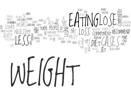 A FEW SIMPLE TIPS TO LOSE WEIGHT TEXT WORD CLOUD CONCEPT