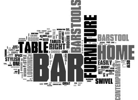 BAR FURNITURE FOR YOUR HOME TEXT WORD CLOUD CONCEPT
