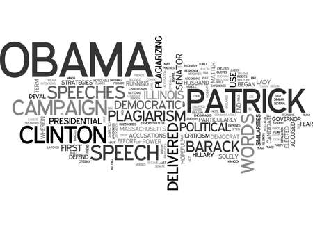 suspected: BARACK OBAMA SUSPECTED OF PLAGIARISM TEXT WORD CLOUD CONCEPT