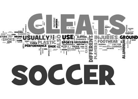 A FIRM STEP WITH SOCCER CLEATS TEXT WORD CLOUD CONCEPT