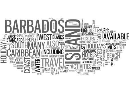 BARBADOS HOLIDAYS TEXT WORD CLOUD CONCEPT