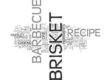 바비큐 브리켓 조리법 텍스트 단어 개념