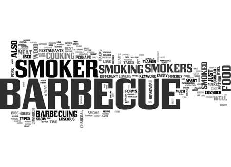 BARBECUE SMOKER TEXT WORD CLOUD CONCEPT Illustration