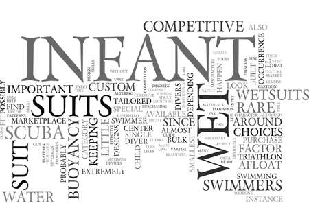 A GUIDE TO INFANT WET SUITS TEXT WORD CLOUD CONCEPT