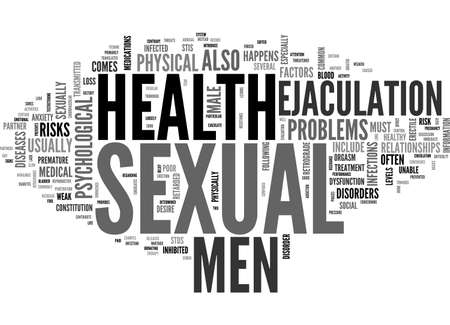ejaculation: A GUIDE TO MEN S SEXUAL HEALTH TEXT WORD CLOUD CONCEPT