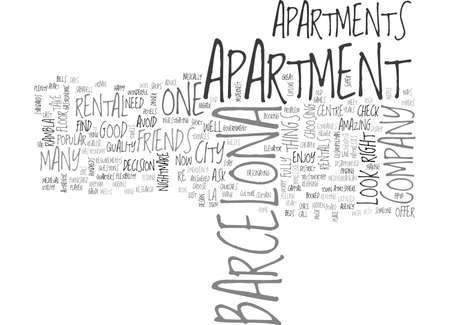 rentals: BARCELONA APARTMENT RENTALS TEXT WORD CLOUD CONCEPT