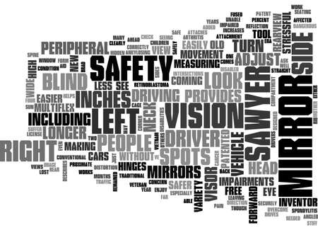 A FORWARD LOOK AT REARVIEW MIRRORS TEXT WORD CLOUD CONCEPT Banco de Imagens - 79494421