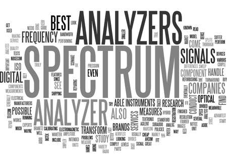 A GUIDE TO SPECTRUM ANALYZERS TEXT WORD CLOUD CONCEPT Illustration