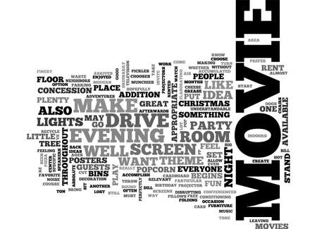 conveniences: A NIGHT AT THE DRIVE IN BIRTHDAY PARTY TEXT WORD CLOUD CONCEPT