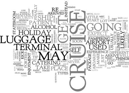 A PAMPERED HOLIDAY AT SEA TEXT WORD CLOUD CONCEPT