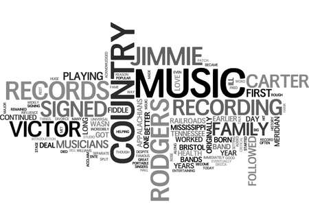A HISTORY OF COUNTRY MUSIC TEXT WORD CLOUD CONCEPT Reklamní fotografie - 79494565
