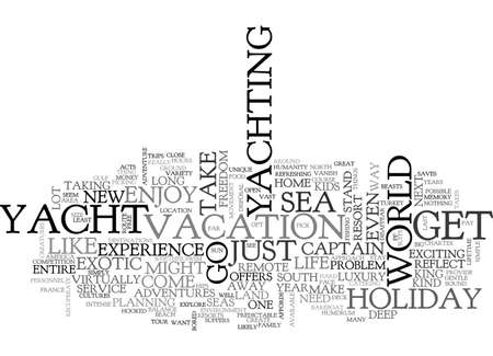 A HOLIDAY ON THE SEAS TEXT WORD CLOUD CONCEPT