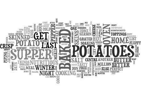 hymn: A HYMN TO BAKED POTATOES TEXT WORD CLOUD CONCEPT