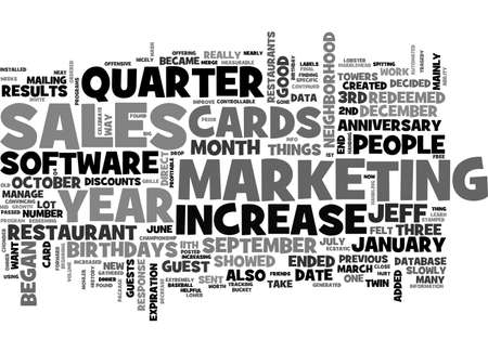 A INCREASE IN SALES AFTER TEXT WORD CLOUD CONCEPT