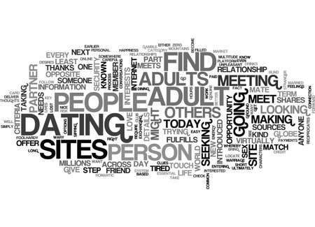 A PLATFORM FOR ADULTS TO DATE TEXT WORD CLOUD CONCEPT