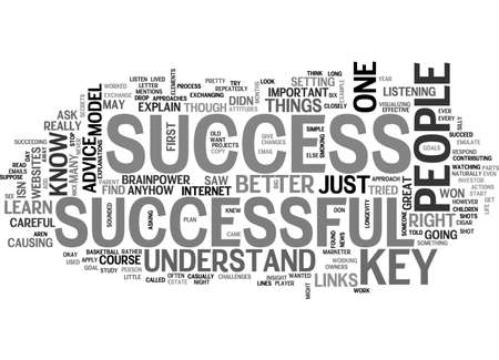 A KEY TO SUCCESS TEXT WORD CLOUD CONCEPT