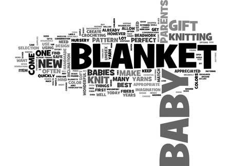A KNIT BLANKET IS ONE OF THE BEST BABY GIFTS TEXT WORD CLOUD CONCEPT Çizim