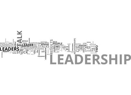 sipping: A LEADERSHIP LESSON TWO GUYS WITH GUNS TEXT WORD CLOUD CONCEPT