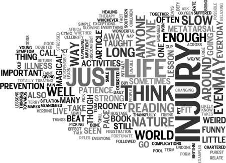anyone: A LESSON FROM ROONEY TEXT WORD CLOUD CONCEPT Illustration
