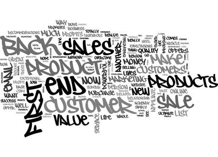 A LESSON IN EMAIL THE MONEY IS IN THE LIST WITH THE BACK END SALES TEXT WORD CLOUD CONCEPT