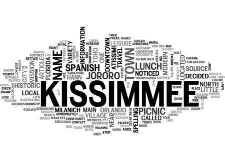 A LITTLE PICNIC LUNCH IN KISSIMMEE TEXT WORD CLOUD CONCEPT Illustration