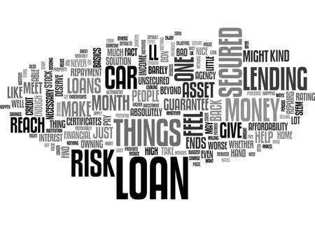 A LOAN CAN GIVE YOU A HAND UP TEXT WORD CLOUD CONCEPT