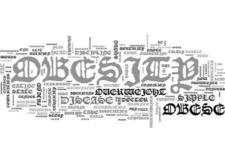 A LOOK AT OBESITY TEXT WORD CLOUD CONCEPT