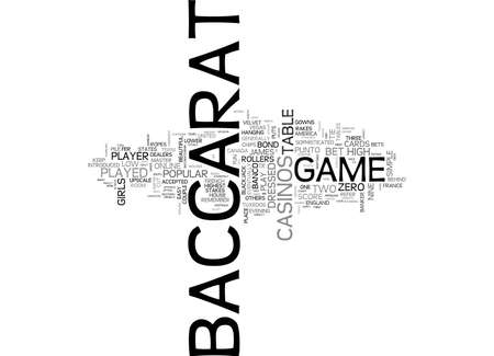 upmarket: BACCARAT THE HISTORY TEXT WORD CLOUD CONCEPT